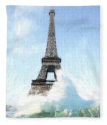 Swimming Pleasure In Paris Fleece Blanket