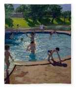 Swimming Pool Fleece Blanket