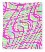 Swirly Check Fleece Blanket