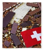 Swiss Chocolate Fleece Blanket