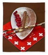 Swiss Chocolate Praline Fleece Blanket