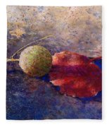 Sycamore Ball And Leaf Fleece Blanket
