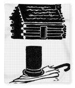 Symbols: Abe Lincoln Fleece Blanket