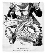 T. Roosevelt Cartoon, 1903 Fleece Blanket