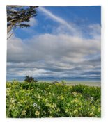 Table Bluff In Spring Fleece Blanket