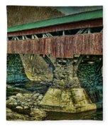 Taftsville Covered Brdidge Fleece Blanket