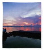 Tagbilaran Sunset Fleece Blanket