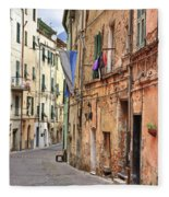 Taggia In Liguria Fleece Blanket