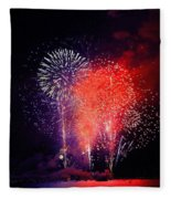 Tahoe Fireworks. Fleece Blanket