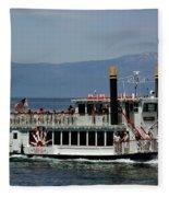 Tahoe Gal On Lake Tahoe Fleece Blanket