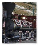 Tahoe Steam Locomotive Fleece Blanket