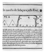Tailors Pattern Book, 1589 Fleece Blanket