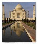 Taj Mahal Reflection Fleece Blanket