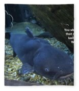 Talking Fish Fleece Blanket