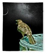 Talking To The Moon Fleece Blanket