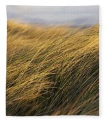 Tall Grass Blowing In The Wind Fleece Blanket