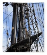 Tall Ship Mast Fleece Blanket