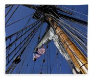 Tall Ship Rigging Fleece Blanket