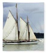 Tall Ship Tacoma Fleece Blanket