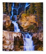Tangle Falls At Dusk, Jasper National Fleece Blanket