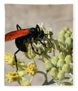 Tarantula Hawk Wasp Fleece Blanket