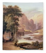 Tasmanian Gorge Fleece Blanket