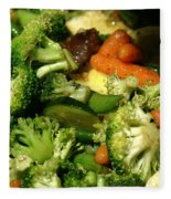 Tasty Veggie Stir Fry Fleece Blanket