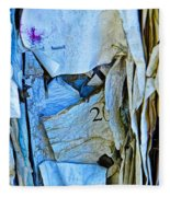 Tattered Paper On A Bulletin Board No.1045 Fleece Blanket