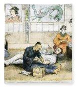Tattoo Parlor, 1882 Fleece Blanket