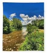 Taughannock Falls Creek Fleece Blanket
