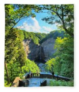 Taughannock Falls Overlook Fleece Blanket