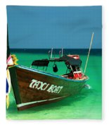 Taxi Boat Fleece Blanket