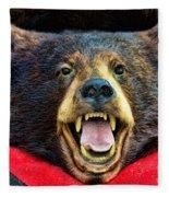 Taxidermy -  Black Bear Fleece Blanket