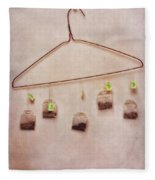 Tea Bags Fleece Blanket
