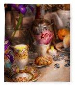 Tea Party - The Magic Of A Tea Party  Fleece Blanket