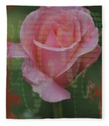 Tea Rose - Asia Series Fleece Blanket