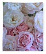 Tea Time Roses Fleece Blanket
