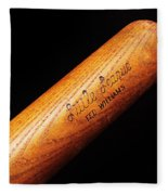 Ted Williams Little League Baseball Bat Fleece Blanket
