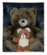 Teddy Elder Care Bear Fleece Blanket
