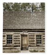 Teddy Roosevelt's Maltese Cross Log Cabin Retro Style Fleece Blanket