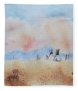 Teepees - Watercolor Fleece Blanket