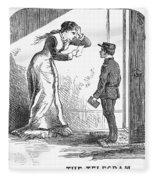 Telegram: Death, 1879 Fleece Blanket