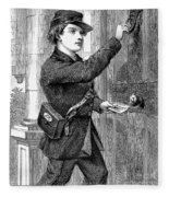 Telegraph Messenger, 1869 Fleece Blanket