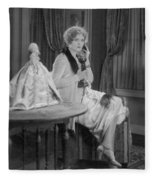 Telephone Call, 1920s Fleece Blanket