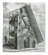 Telescope At The Paris Obervatory Fleece Blanket