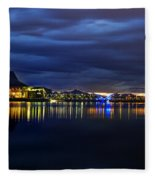 Tempe Arts Center At Sunset  Fleece Blanket