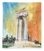 Temple Of Apollo In Kourion Fleece Blanket