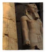 Temple Of Luxor  Egypt Fleece Blanket