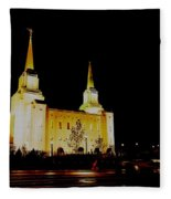 Temple Of The Later Day Saints Fleece Blanket