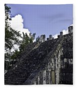 Temple Of The Warriors Three Fleece Blanket